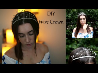 Diy Wire Crown, Super Easy and Cheap (@irenerudnykphoto)