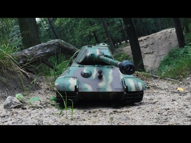Танк на радиоуправлении German King Tiger Heng Long 1 16 2 4G