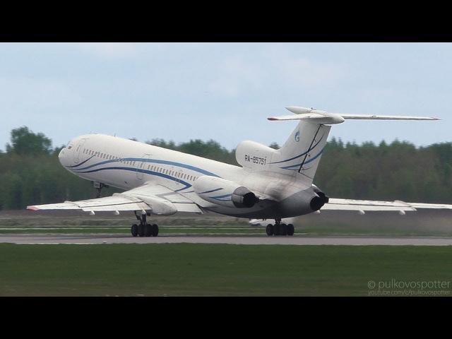 Farewell Gazpromavia Tu-154s | TUPOLEV TU-154M RA-85751 takeoff from St. Petersburg airport