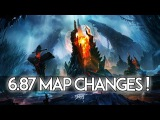 6.87 Patch Changes Dota 2 - Old/New Map Changes & Comparison