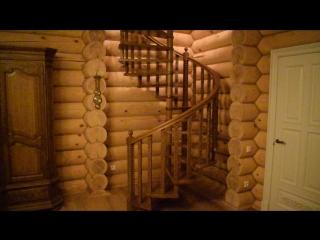 винтовая лестница на больцах из дуба в Казани