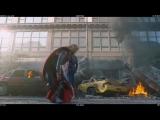 Смешные моменты и неудачные дубли из фильма Мстители)