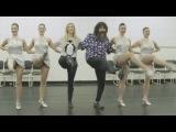 Mick Foley Kicks with the Rockettes