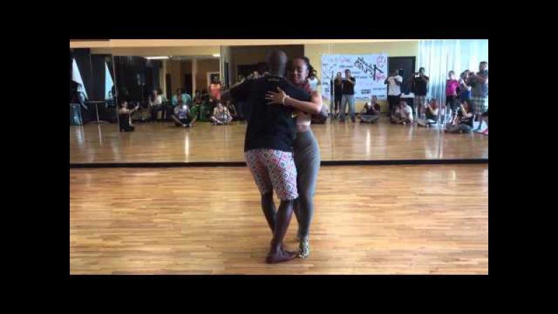 Jamba and Adoree Semba demo at Tabanka Tex dancefest