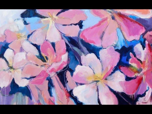Alice-ART Flower Power, Dynamische Acrylmalerei Geöffnete Tulpen, dynamic acrylic painting