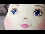 Как нарисовать лицо текстильной кукле.