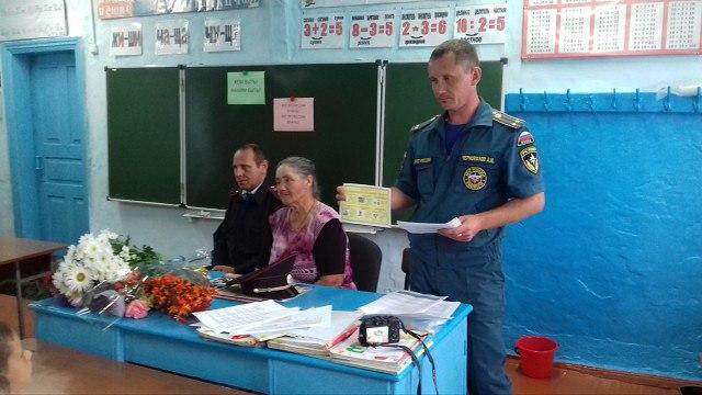 Школьникам станицы Исправной рассказали о правилах пожарной безопасности