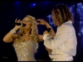jessica simpson and david bisbal - angels (live latin grammy 2004)