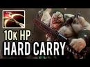 HARD CARRY PUDGE IS REAL 10k HP MOST HARDY HERO IN DOTA 2 NEW META 7.01