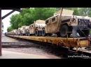 2017 Convoy Trains Transporting UN Military Tanks Prepare for Martial Law Riots NWO Globalist Agenda