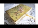 Decoupage journal cover tutorial - DIY. Vintage style.