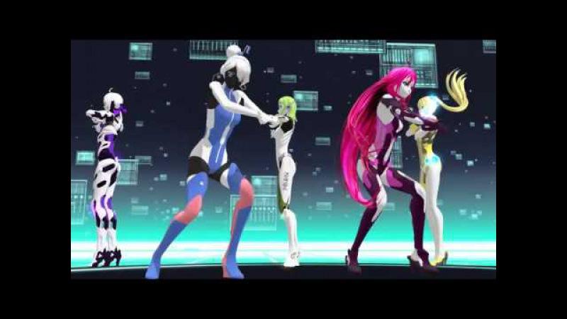[MMD] Ikkitousen - Gumi ● Haku ● Neru ● IA ● Akikoloid [Robot Styles] DL