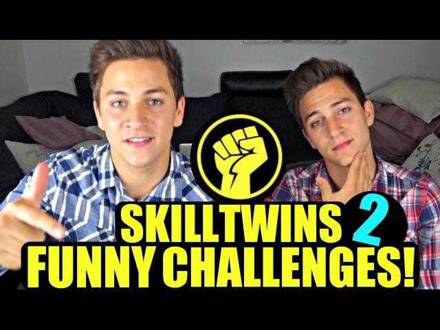 SkillTwins FUNNY Challenges 2 - (Chubby Bunny/FIFA/Dizzy Penalties) - TeamJosef vs. TeamJakob