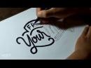 "Hand Lettering Tutorial Typography ""Free Your Mind""   Speedart"