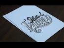 "Hand Lettering Tutorial, ""Hello World""   SpeedArt"