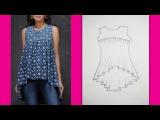 Gathered Yoke Neckline Top How to make Designer Top (Part 1 - Cutting )