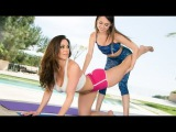 Teacher of yoga lesbian seduces girl ! KENDRA LUST &amp RILEY REID Camping