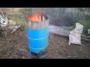 Садовая печка из бочки по методу Максимыча