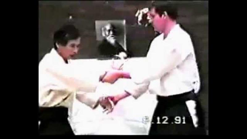 Seminar by Nobuyoshi Tamura sensei 1991 The Netherlands (uke: Chris de Jongh)