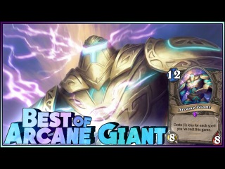 Hearthstone - Best of Arcane Giant - Funny and lucky Rng Moments