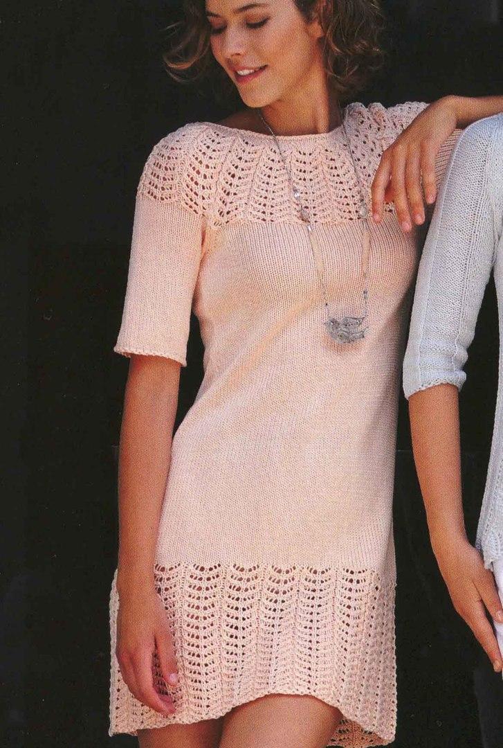Платье «Утренний рассвет» спицами
