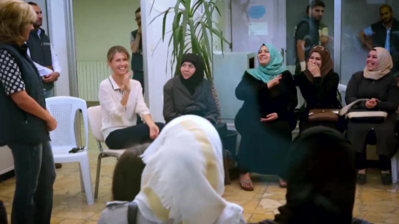 Визит Председателя Совета попечителей, первой леди Сирии госпожи Асмы Аль-Асад в организацию по вопросам развития Маяк Барзех