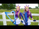 MY LITTLE PONY medley (Harp Twins) Camille and Kennerly