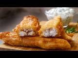 Фиш & чипс с простым соусом Тартар. Крайне хрустяще и нежно (Fish and Chips)