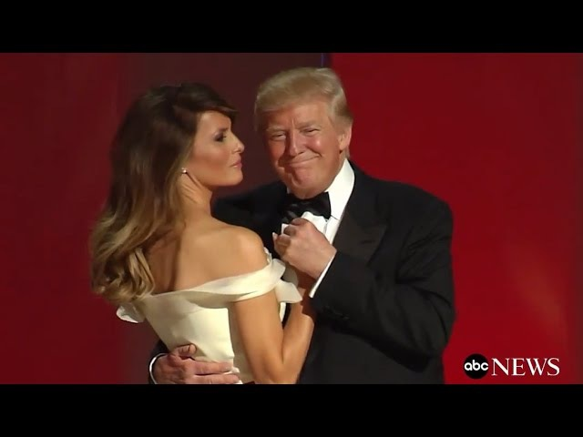President Trump First Lady Melania's First Dance