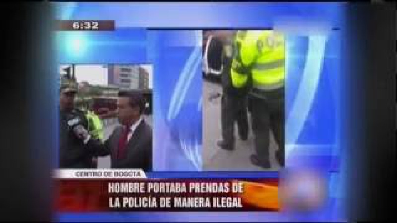 CAPTURAN ACTOR UNIFORMADO DE POLICÍA