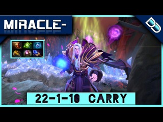 Miracle- Invoker ✪ 22-1-10 CARRY Game ✪ DOTA2