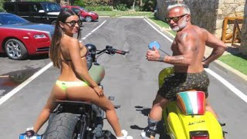 Танцующий миллионер Джанлука Вакки (Gianluca Vacchi) и его жена Джорджия Габриэле (Giorgia G...