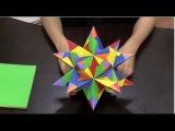 Como hacer una estrella de 20 puntas en origami- Hogar Tv por Juan Gonzalo Angel