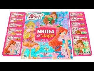 Winx Club - Мода и Магия (наряды Винкс из 7 сезона) - обзор журнала с наклейками