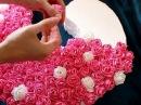 КАК СДЕЛАТЬ ЦВЕТЫ ИЗ САЛФЕТОК DIY Объемная цифра 2 на день рождения Цветы из бума
