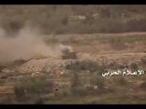 Houthis destroy a Saudi tank with ATGM near Yemen-Saudi borders in Jizan