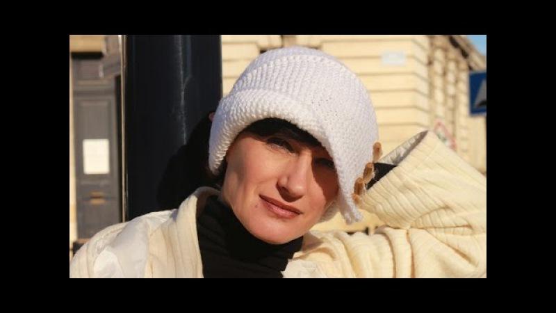 Вязаная шапочка Робин Гуда: 2 МК. Шапка спицами лицевой и платочной вязкой. Вязаные шапки спицами