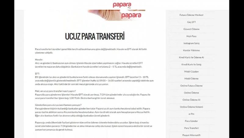 Ucuz para transferi