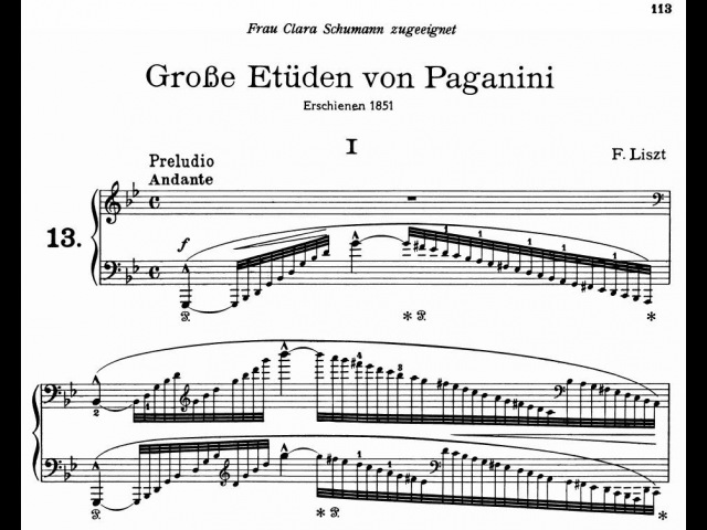 Brendel plays Liszt/Paganini - Études (Audio Sheet Music)