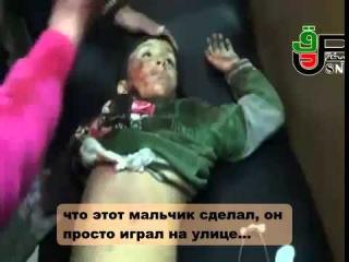 Сирия,Алеппо:девочка оплакивает брата.23/12/2012