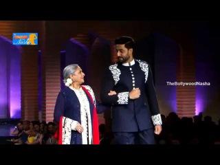 Jaya bachchan, Abishek Bachchan @ 5th Annual Mijwan Fashion Show - Manish Malhotra 2015