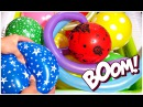 """""""The Balloon Popping Show"""" for LEARNING COLORS - Giant Balloon Explosion - Educational Video II"""