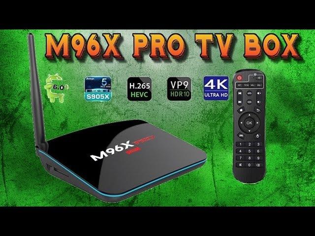 M96X Pro 4K Amlogic S905X 2GB RAM 16GB ROM Android 6.0 TV Box.