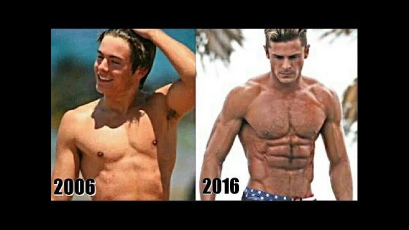 Zac Efron's Transformation From Lanky Teen To Incredible Hulk Fitness Motivation