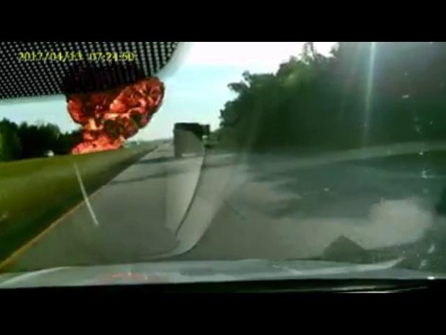 Huge explosion captured on dash cam in I-310 crash