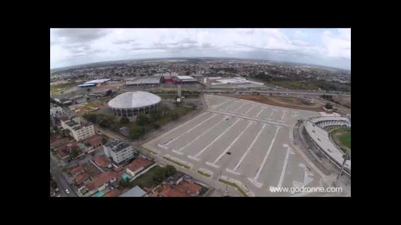 Filmagem aérea estadio Almeidão em João Pessoa/PB