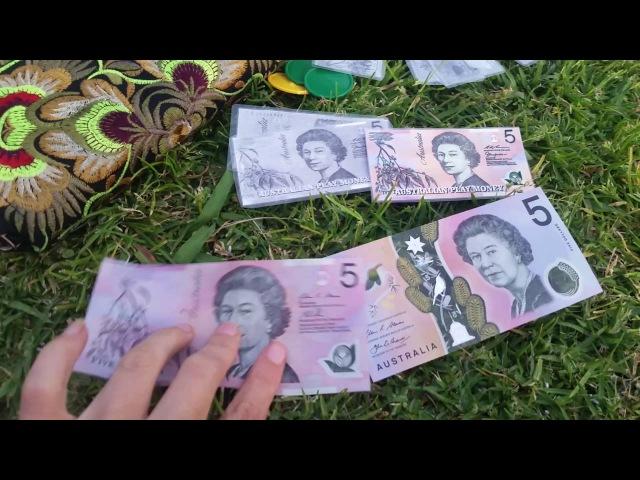 Новые Австралийские деньги Играем в продавца Игрушка кассовый аппарат