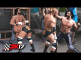 WWE 2K17 Crowd & Backstage Brawl Gameplay - Triple H vs Seth Rollins