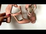 Замшевые босоножки нежно розового оттенка — Choosl
