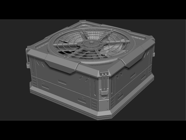 Zbrush hard surface Zmodeler cooler